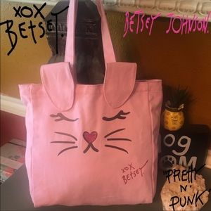 Betsey Johnson Pink Bunny Tote